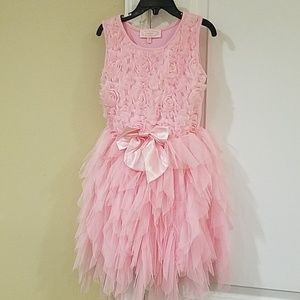 Pink Short Sleeved Dress